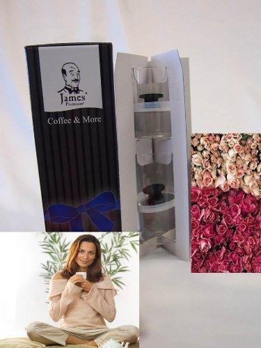 Weihnachtsgeschenk -TEE Vacum Glasdose 2er Set Geschenkset von James Premium®