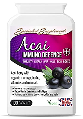 Specialist Supplements Acai Immuno Defence 100 Capsules from Specialist Supplements Ltd.