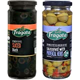 Fragata Sliced Black Olives 430g and Provenzal Olives 330g (Combo Pack)-Olives for Pizzas and Salads