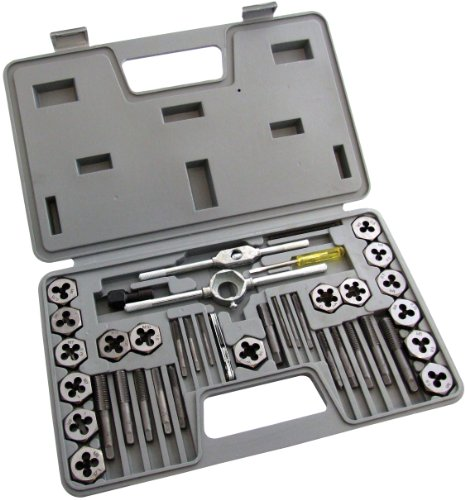 Amtech S1150 Tap and Die Set in Blow Case, 40-Piece