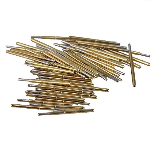 BQLZR Golden Silber Ton 1.02mm x 16.5mm 100g P75-J1 Feder Gerade Test Probes Stifte 100 St¨¹ck