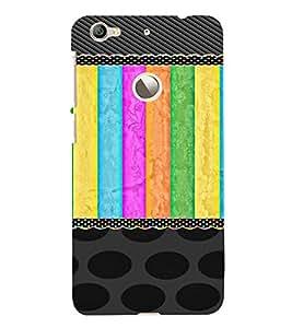 PrintVisa Girly Colorful Pattern 3D Hard Polycarbonate Designer Back Case Cover for LeEco Le 1S