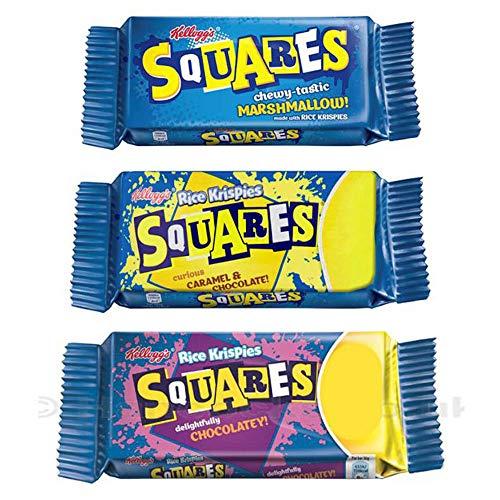 Preisvergleich Produktbild Rice Krispies Treats Squares Bundle / 3 Sorten Marshmallow,  Karamell und Schokolade