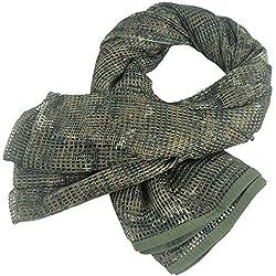 Écharpe KSS en maille filet - Unisexe - Style camouflage - Disponible en différents designs et couleurs - Pour loisirs - 190 x 90 cm, CP