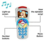 Fisher-Price 887961256321 Laugh and Learn Puppy's Remote, Electronic Educational Toddler Toy with Music, Lights, Colours and Phrases, Suitable for 6 Months Plus