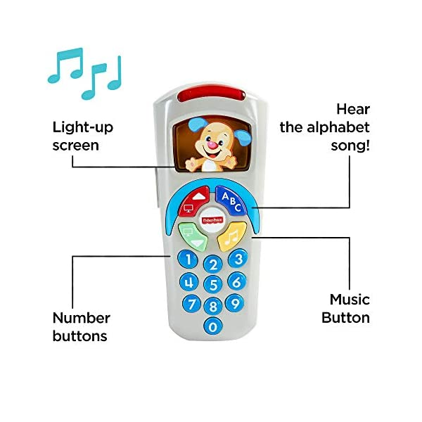 Fisher-Price 887961256321 Laugh and Learn Puppy's Remote, Electronic Educational Toddler Toy with Music, Lights, Colours and Phrases, Suitable for 6 Months Plus 2