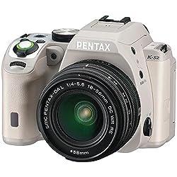 Pentax K-S2 20MP Weatherized SLR with Lens kit, Tan