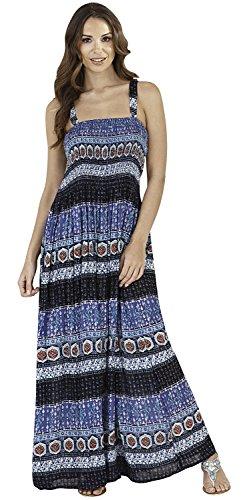 Dannii Matthews Vibrant Ladies Sleeveless Strappy Maxi Beach Holiday Dress, Various Styles