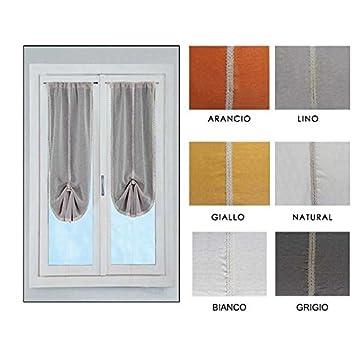 Coppia tendine vetro regolabili pacchetto Estella -Grigio-60x230 ...