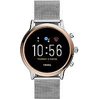 Fossil Damen Smartwatch 5 Generation + 5E. Wear OS by Google mit Lautsprecher, Herzfrequenzmesser, GPS, NFC und…