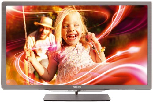 Philips 47PFL7606K/02 119 cm (47 Zoll) Ambilight 3D LED-Backlight-Fernseher (Full-HD, 400 Hz PMR, DVB-T/C/S, Smart TV) silbergrau