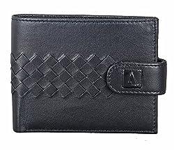 Adamis Leather Mens Wallet W258 Black