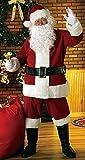 GoodsOnline24/7 Disfraz navideño de Papá Noel, de Terciopelo, 8 Piezas, extralargo, de Lujo