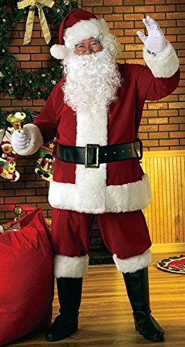 Goods Online 24/7 Luxuriöses Weihnachtsmann-Kostüm aus Samt mit 8 Teilen, Größe XL (Kinder Weihnachtsmann-kostüm Für)