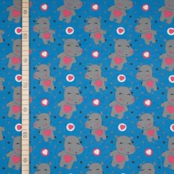 Sweet Hippo - Blau - Jersey