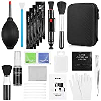Zacro Professional Camera Cleaning Kit with Blowing Bottle, Cleaning Solution, Lens Cleaning PEN, Cleaning Brush, Cleaning Swabs, Cleaning Cloth, Gloves in a Storage Box