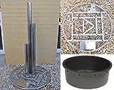 Köhko Springbrunnen Zylinder Höhe ca. 180 cm 26003 Gartenbrunnen mit LED-Beleuchtung und PE-Becken