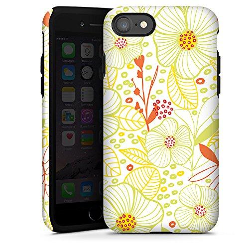 Apple iPhone X Silikon Hülle Case Schutzhülle Flower blumen fruehling Tough Case glänzend