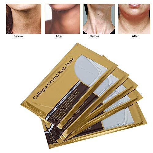 Overnight Repair Mask (E-CHENG Neck Skin Renewal Mask, 5Pcs Collagen Anti-Aging Skin Care Mask for Chin Lifting Exfoliating Whitening Firming Rejuvenation Moisturizing Hydration)