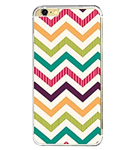 Zig Zag Colourful Pattern 2D Hard Polycarbonate Designer Back Case Cover for Apple iPhone 6 Plus :: Apple iPhone 6+