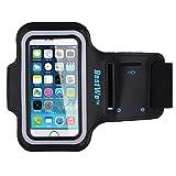 Bestwe Schwarz Neoprene Sports Fitnesszentrum Jogging Armband Tasche Oberarmtasche Schutz Hülle Etui Case für Iphone 5S 5C 5