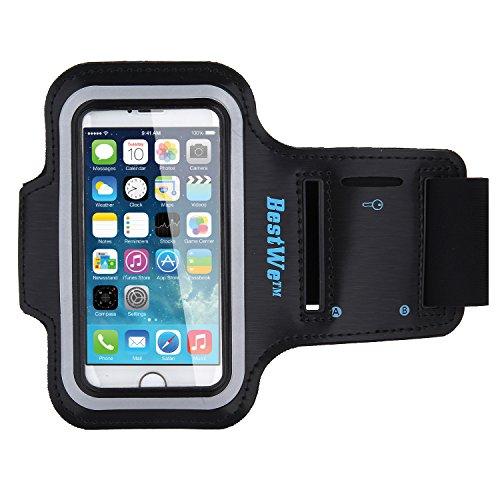 Bestwe Fascia da Braccio Sportiva iPhone SE 5S 5 Sweatproof Bracciale Corsa & Esercizi con Supporto Chiave e Riflettente Armband Cinturino Regolabile