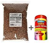 #3: Goofy Tails- Hikari Tropical Food Sticks Aquarium Fish Food (1Kg) With Aqua Toya Blood Worms (5gm)