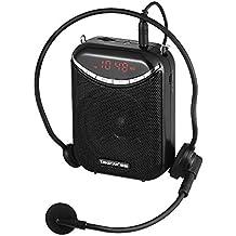 ammoon Amplificador de Voz Recargable con Micrófono TAKSTAR E190M 10W Multimedia Portátil Alámbrico Admite Tarjeta USB y TF Reproduciendo Música Radio FM y MIC Grabación de Voz para Guías de Turismo