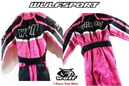 Orange Moto Cross BMX Enduro Motorrad Quad Wulf AZTEC Kinder Race Shirt 8-10 J