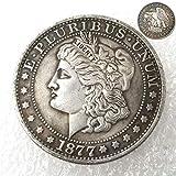 FKaiYin 1877 Antike Liberty Morgan Dollars Half-Dollars Old Replica Münze - Great American Old Coin - Liberty Eagle Coins - Entdecken Sie die Geschichte der US Münzen Zukunft. -