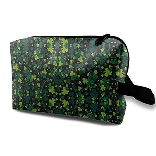 (St Patrick's Shamrock Multifunction Travel Makeup Bags Storage Bag Organizers With Zipper)