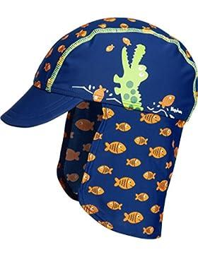 Playshoes Uv-Schutz Bademütze, Badekappe Krokodil, Sombrero para Niños