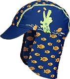 Playshoes Baby-Jungen Mütze UV-Schutz Bademütze, Badekappe Krokodil, Blau (Marine 11), 49