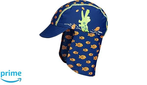 Badekappe Krokodil Playshoes UV-Schutz Badem/ütze Cappellopello Bambino