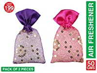 Miracle Perfume Potli. Set of 2 Pieces. Lavender and Cologne Fragrance. Car Air Freshener. 12 Months Perfume