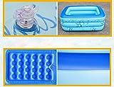 FACAI888 Bagno gonfiabile doppio / Tubo spazzolato / Piumino / Piscina per bambini - Vasca da bagno - Vasca gonfiabile