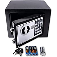 Schramm® Caja fuerte electrónica, pequeña caja fuerte de pared con cierre digital, en negro