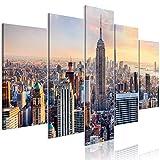 murando - Bilder Stadt New York 200x100 cm Vlies Leinwandbild 5 TLG Kunstdruck modern Wandbilder XXL Wanddekoration Design Wand Bild - Manhattan d-B-0255-b-m