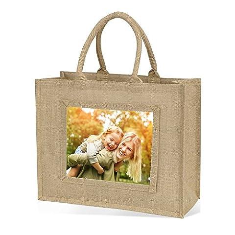 Jute Tasche, großer Shopper-Natur