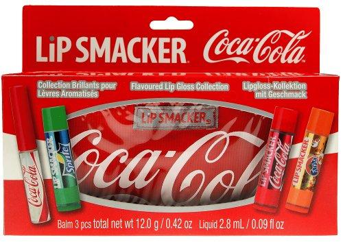 Lip Smacker Coca Cola Cosmetic Bag mit 3 Lippenpflegestiften und 1 Lipgloss