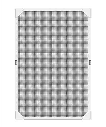 Schellenberg 50749 Insektenschutz für Dachfenster ohne bohren | Fliegengitter Fiberglasgewebe, inkl. Rahmen | Maße: 80 x 140 cm | weiß | nahtlose Befestigung mit selbstklebenden Magnetstreifen