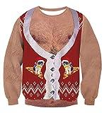 AIDEAONE Unisex Herren Damen Weihnachten Lustiges Design Langarm-Sweatshirt