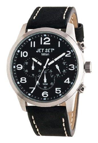Jet Set Damen Chronograph Quarz Uhr mit Leder Armband J64803-217