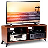 RFIVER Fernsehtisch Fernsehschrank TV Tisch Lowboard Board Couchtisch Möbel Holz 110x40x46 cm in Nussbaum TS4002