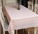 Hyun times Tovaglie in pizzo impermeabile tovaglie di tovaglia in plastica monouso tavolino da tavolo europeo tappezzeria in PVC morbido ( dimensioni : 100*182 )