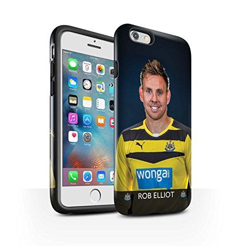 Offiziell Newcastle United FC Hülle / Glanz Harten Stoßfest Case für Apple iPhone 6S+/Plus / Pack 25pcs Muster / NUFC Fussballspieler 15/16 Kollektion Elliot