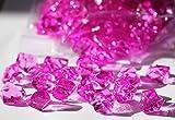 Acryl Dekosteine - Crash Eis- 28x16mm PINK -GROßPACKUNG- Brillante Streudeko zur Tischdeko und Hochzeitsdeko