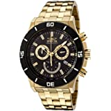 Invicta Men's Diver All IPG Chronograph Watch 0392 with Black Bezel