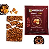 Nutsbury Peanut Duet Sweet & Soft Nutritious Non-Sticky Chikki Made of Jaggery and Fully Roasted Split Peanuts . 500 GMS Pack.