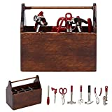 Zerodis- Caja de Herramientas en Miniatura de la casa de muñecas, 1:12 Accesorios de la casa de muñecas Caja de Herramientas en Miniatura Mini Caja de Herramientas de Madera Modelo Simulación